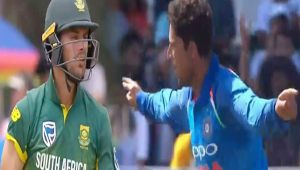 India vs South Africa 2nd ODI : Kuldeep Yadav dismisses Aiden Markram for 8 runs