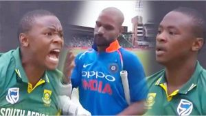 India vs South Africa 5th ODI : Rabada sledges Shikhar Dhawan after dismissing him