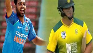 India vs South Africa 1st T20I : JJ Smuts out for 14 runs, Bhuvi Strikes