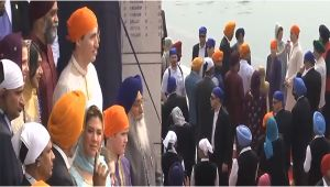 Canadian PM Justin Trudeau visits the Golden Temple in Amritsar