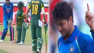 India vs South Africa 1st ODI: Kuldeep Yadav dismisses Chris Morris for 37 runs
