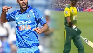 India vs South Africa 1st T20I : JP Duminy out for 3 runs, Bhuvi strikes again