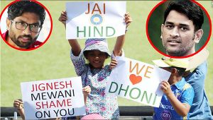 India vs South Africa 1st ODI: MS Dhoni we love you, Shame on you Jignesh Mewani posters