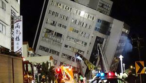 Taiwan struck by massive earthquake of 6.4 magnitude, hotel collapse