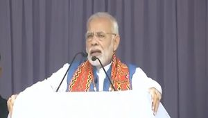 PM Modi addresses rally in Nagaland, calls for transformation of the state