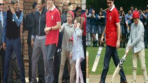Canadian PM Justin Trudeau and family plays cricket with Kapil Dev and Azharuddin