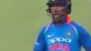 India vs South Africa 1st ODI : Shikhar Dhawan gets angry on Kohli after run out