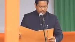 Conrad Sangma takes oath as the 12th CM of Meghalaya
