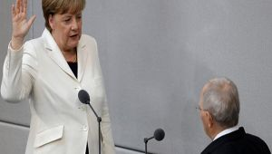 Angela Merkel sworn in as German Chancellor for 4th term; Watch Video