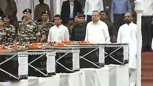 Sukma: Watch here Wreath laying ceremony of Soldiers in Raipur, Chhattisgarh
