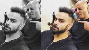 IPL 11 : Virat Kohli gets a new haircut ahead of the IPL 2018