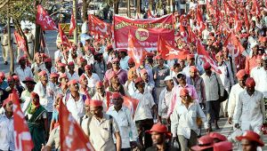 All India Kisan Sabha rally reaches Mumbai's Azad Maidan