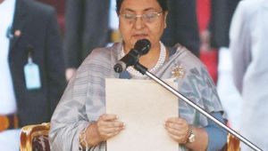 Bidhya Devi Bhandari takes Charge as Nepal President for second term