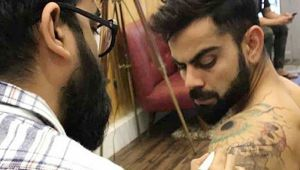 Virat Kohli Gets New Tattoo On His Shoulder Before Ipl 2018 Oneindia
