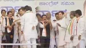 Karnataka Assembly polls: JD(S) leaders join Congress party in Rahul Gandhi's presence