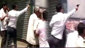Bharat Bandh : Protesters fire bullets in Gwalior, Watch Video