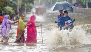 Mumbai faces heavy rainfall leaving streets waterlogged