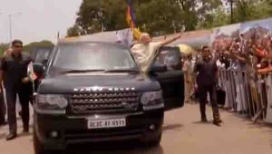 PM Modi holds road show in Chhattisgarh in Bhilai