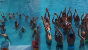 World Yoga Day : Indian Army performed water yoga in Uttar Pradesh