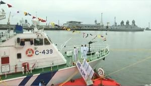 Indian Coast Guard commissions interceptor boat Charlie-439 in Mumbai