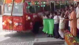 Yogi Aditynath inaugurates hightech remodeled Alambagh bus stand
