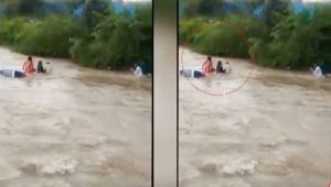 Maharashtra : Heavy Rainfall hits the State, Locals Pull to rescue using rope