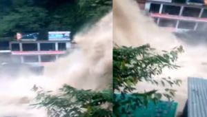 Mussoorie Heavy Rainfall increases Water flow in Kempty Falls
