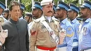 Pakistan Prime Minister Imran Khan inspects guard of honour