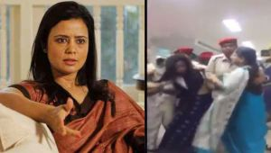 TMC Leader Mahua Moitra assaults lady constable at Silchar Airport