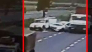 Speeding car collides with pick up vehicle on NH-08, CCTV Footage Viral