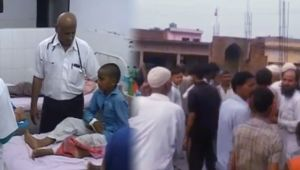Madarsa students injured after high tension wire fall down in UP