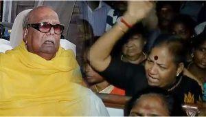 DMK Karunanidhi's health declines, Supporters crying outside Hospital