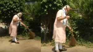 Swachhata Hi Seva Program : PM Modi sweeps, Cleans Baba Ambedkar School