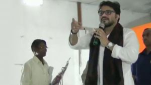 BJP's Babul Supriyo threatens to break man's leg