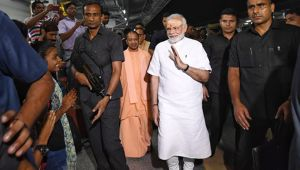 PM Modi, CM Yogi midnight visit to Manduadih Railway Station