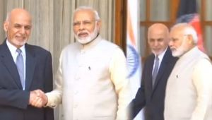 PM Modi meets Afghanistan President Ashraf Ghani in Hyderabad House