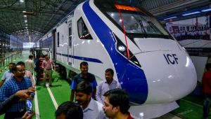 India's first engineless train 'Train 18' makes debut on tracks