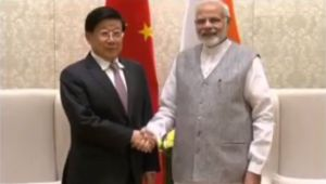 PM Modi meets China's Minister Zhao Kezhi