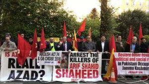 PoK activists mark 'Black Day' against Pakistan in London