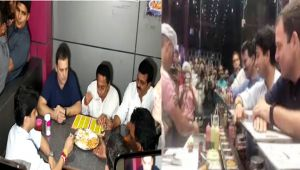 MP Election 2018: Rahul Gandhi enjoys refreshment at a roadside eatery