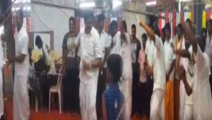 Tamil Nadu : Minister SP Velumani dances during Temple Festival in Coimbatore
