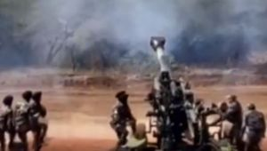 Newly Inducted Indian Army's M777 Ultra Light Howitzer in Action