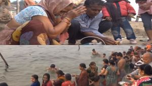 Bhai Dooj Special : Devotees take holy dip in Yamuna, Offers Prayer