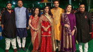 Mukesh Ambani's residence Antilla decked up for Isha-Anand nuptials