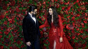 Deepika Padukone, Ranveer Singh sizzle in black & red at their wedding reception