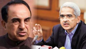 subramanian swamy raises questions on appointment of RBI governor Shaktikant Das