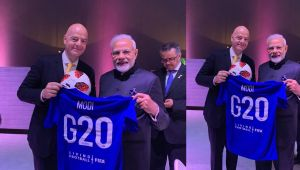 PM Modi thanks FIFA president after receiving football jersey
