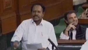 Once again, Rahul Gandhi caught winking in Parliament, Watch Video