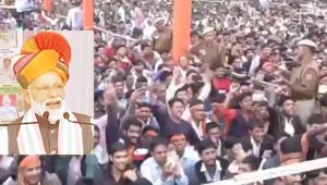 After air strike, Public raises Modi-Modi slogans during PM Modi's rally in Churu