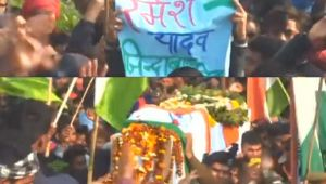 Pulwama : Mortal remains of Slain CRPF Jawans brought to their Hometown